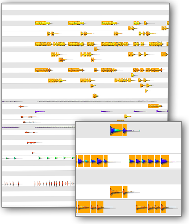 Waveforms not Bricks: MIDI editing on acoustic result